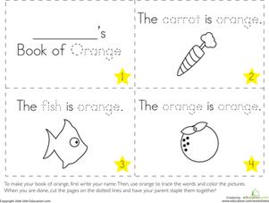 preschool colors fine motor skills letters worksheets the color orange worksheet make your own