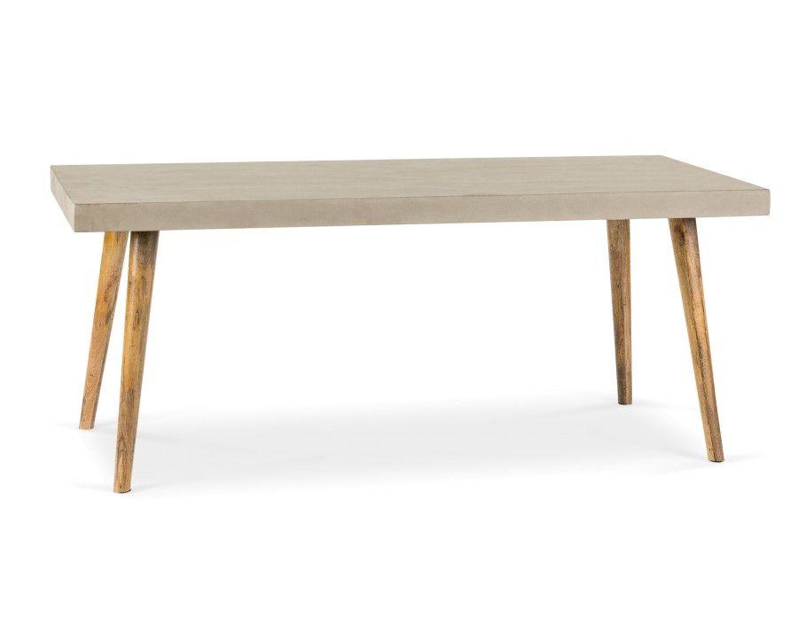 CONCRETE - Table de salle à manger en béton - Gris maison - table de salle a manger grise