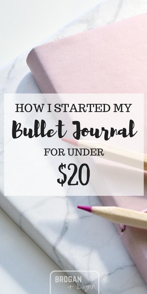 Best Supplies for Starting a Bullet Journal – brogan + lynn