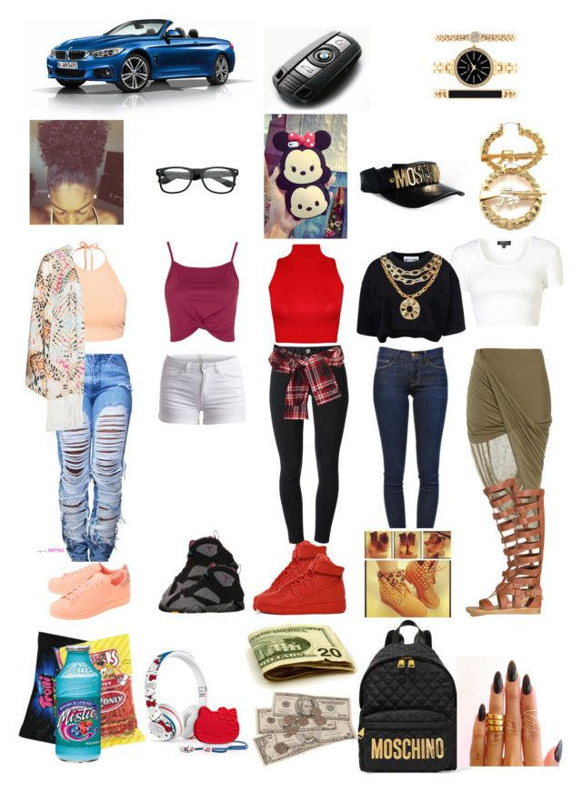 """""""Throughout The Week"""" by pjprincess14 on Polyvore featuring adidas Originals, Frame Denim, BP., NIKE, Pieces, Acne Studios, David Szeto, Topshop, NLY Trend and Mat"""