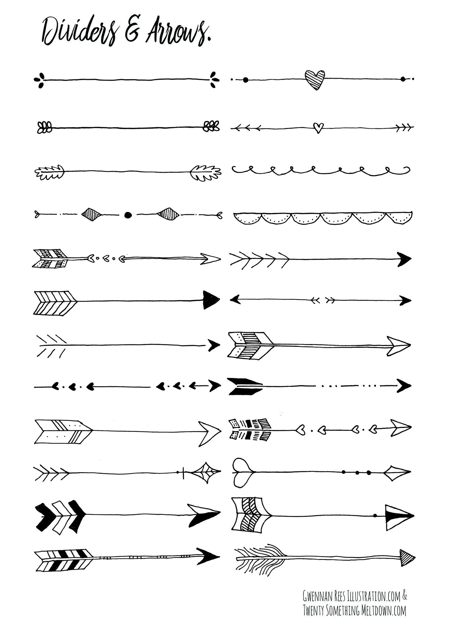 Dessin De Fleche may 14 ***free*** bullet journal printables. | pinterest | flèche