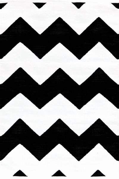 Dash And Albert Rugs Quot Chevron Black White Quot Indoor