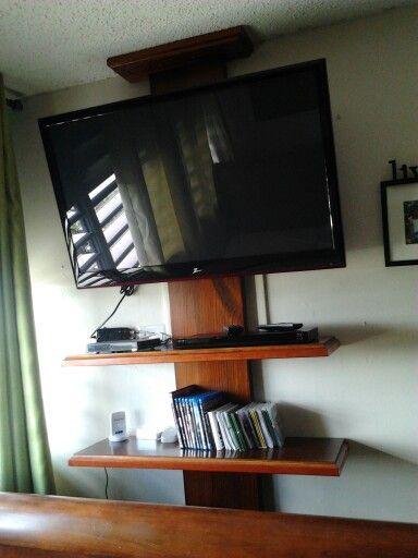 Repisa en madera para tv hecho por mi pinterest repisas en madera repisas y tv - Mucho mueble leon ...