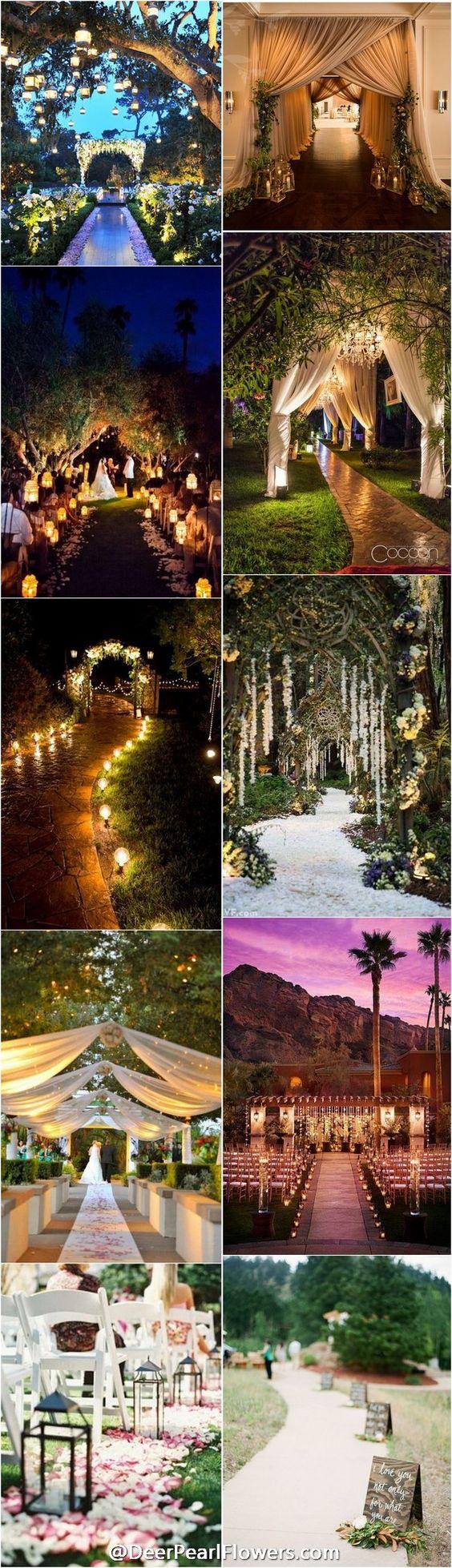 Wedding entry decoration ideas   Creative Wedding Entrance Walkway Decor Ideas  garden party