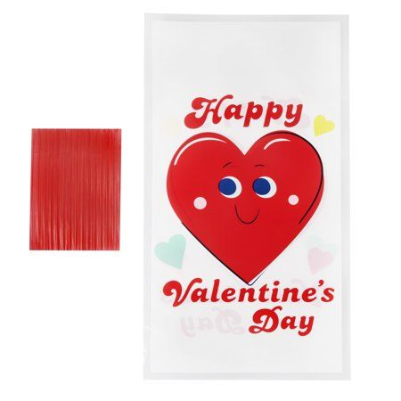 Way To Celebrate Happy Hearts Cellophane Bags Products In