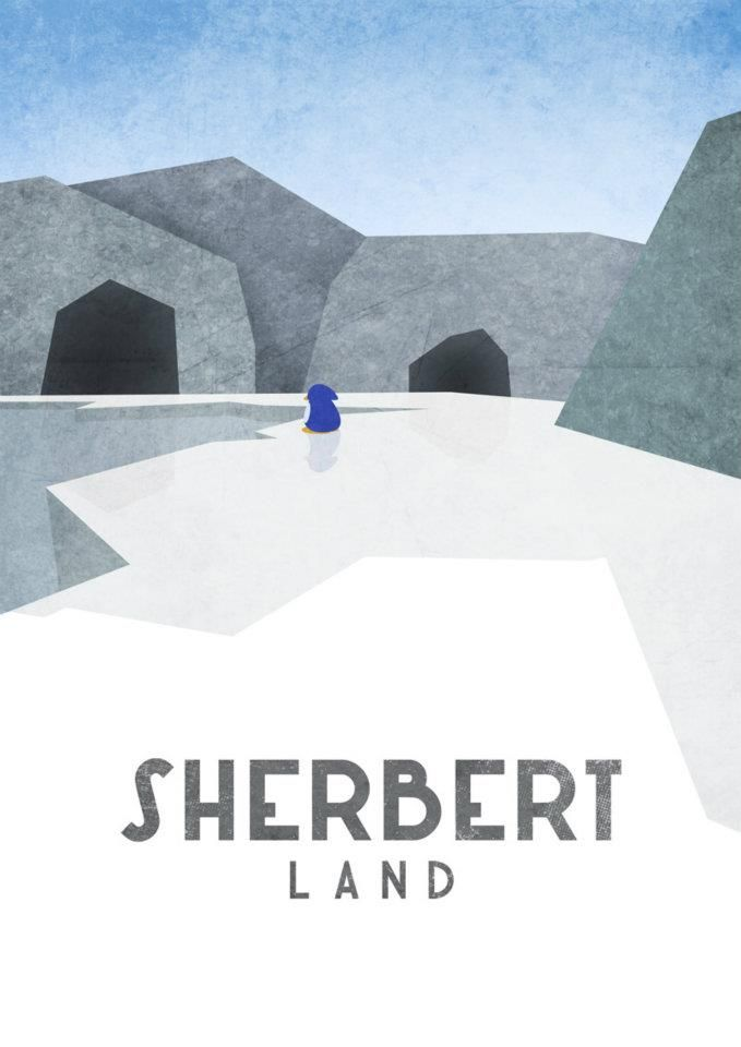 Sherbert Land. LOVE these posters.