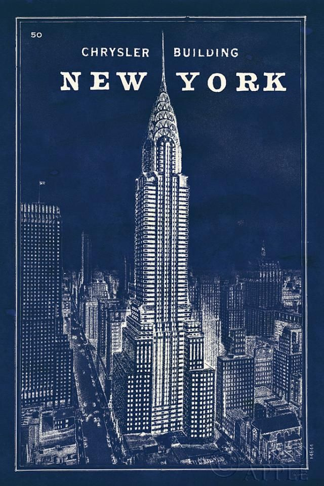 Blueprint map new york chrysler building photo inspiration blueprint map new york chrysler building art print by sue schlabach malvernweather Image collections