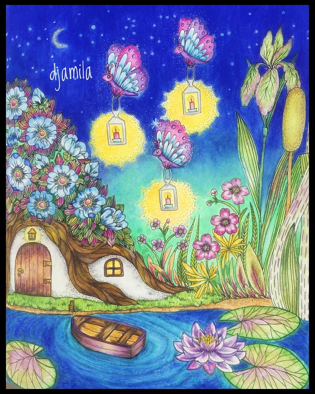 Pin Pa Blomstermandala Colouring Book