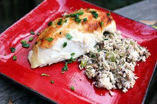 """Cauliflower """"wild rice"""" and sausage stuffing ~ Stuff I Make My Husband"""