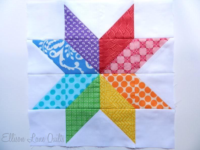 Quilt Block Patterns: Starflower Quilt Block  Tutorial at Ellison Lane