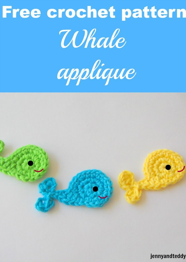 Whale crochet applique free pattern | Crochet 1 | Pinterest ...