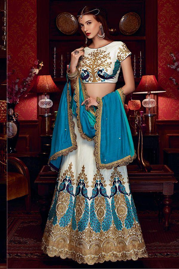 Peacock Lehenga Designer Embroidery Lehenga Choli Party and wedding wear Lehenga