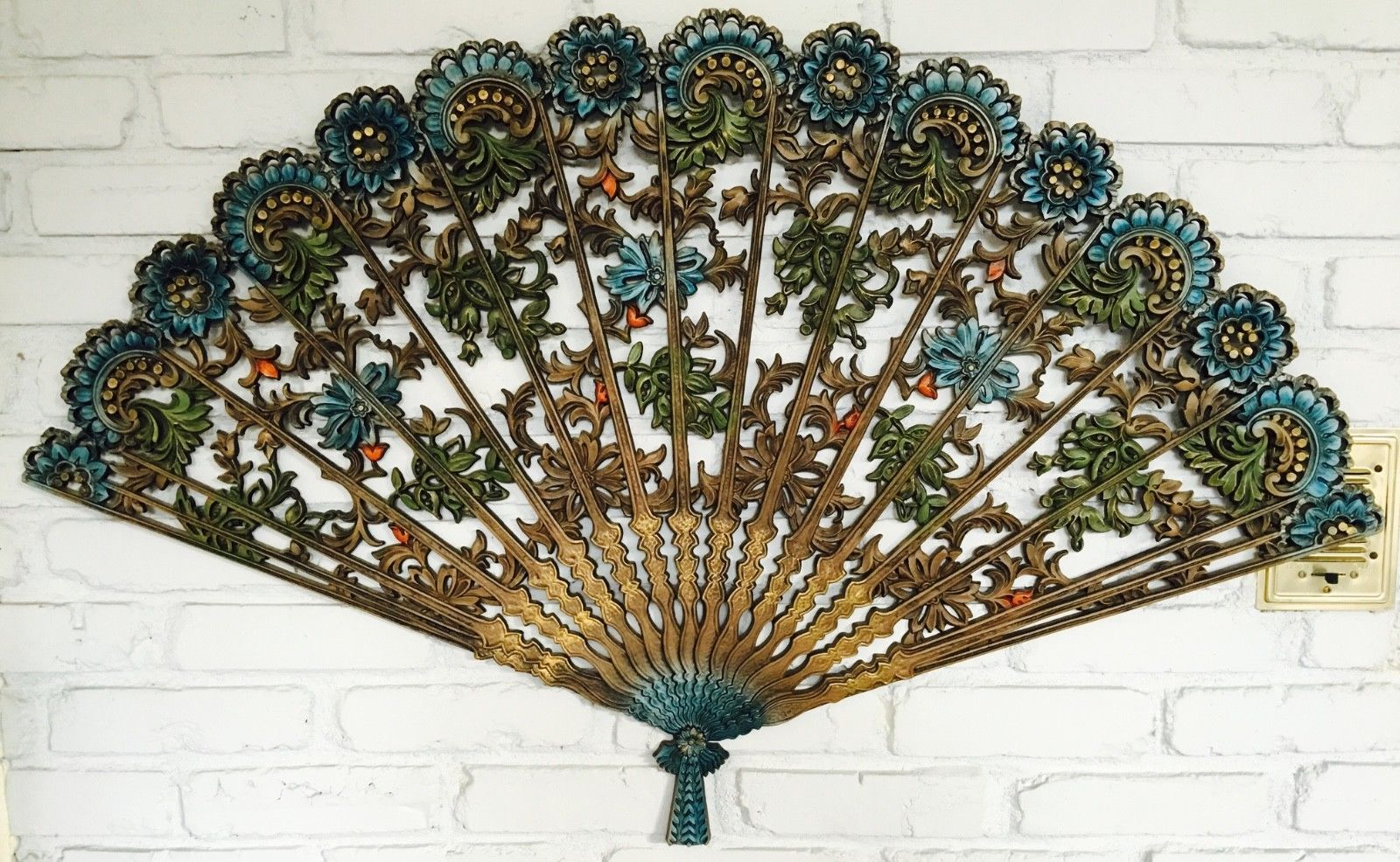 Vintage Burwood Ornate Fan Wall Decor Ebay Wall Fans Home Interiors And Gifts Wall Decor