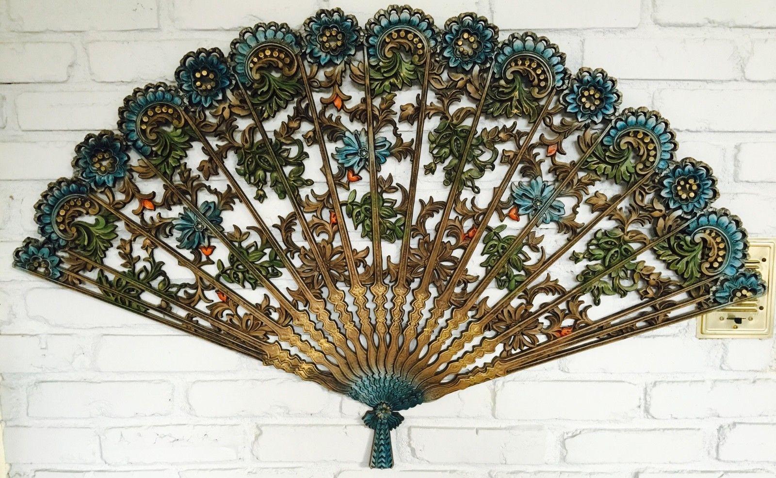 Vintage Burwood Ornate Fan Wall Decor Ebay Wall Fans Home
