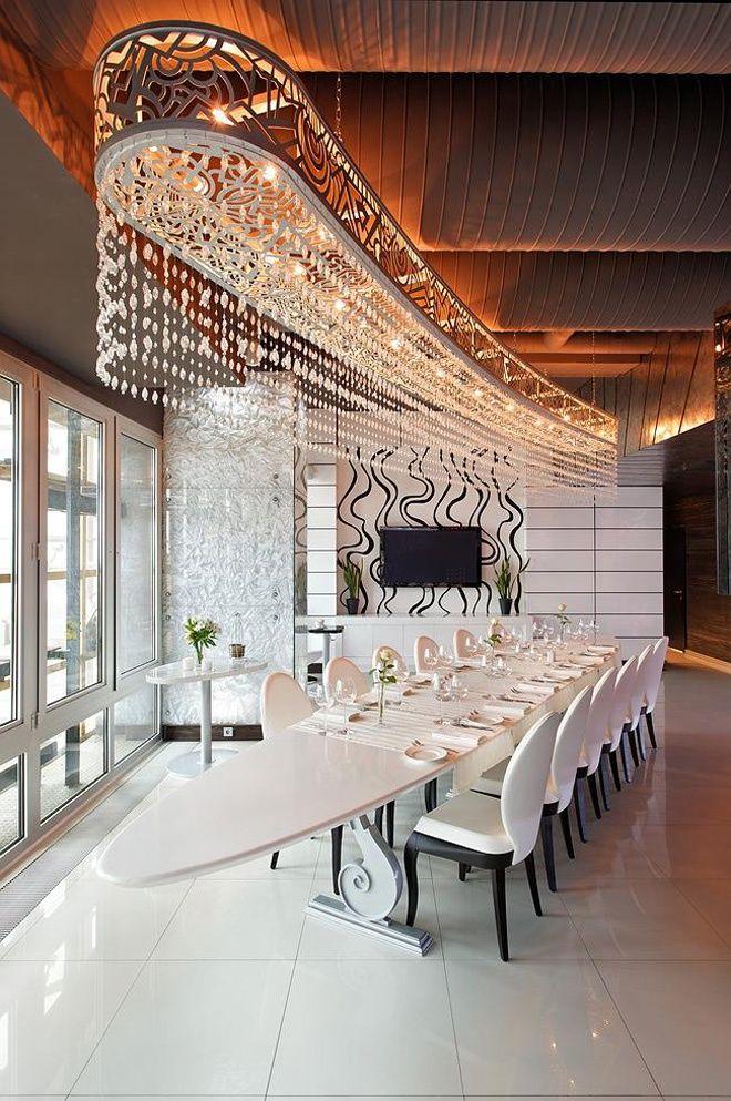 Sky Lounge Restaurant By Roman Leonidov Luxury Dining Room