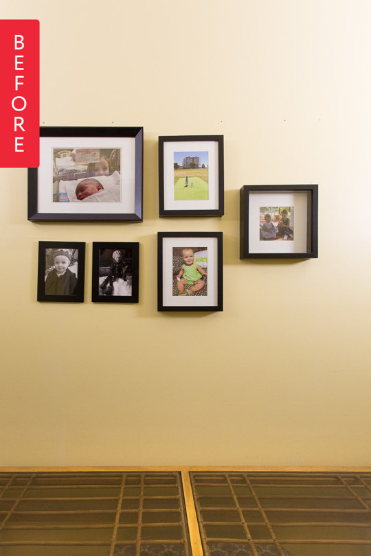 Before & After: Family Gallery Wall Goes Glam | Gallery wall, Walls ...