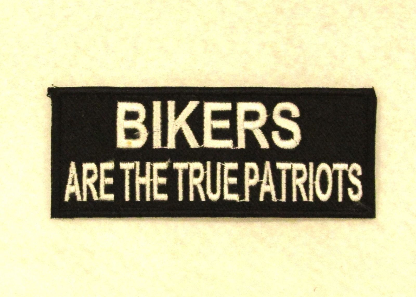 """""""BIKERS ARE THE TRUE PATRIOTS"""" Iron on Small Patch Badge for Biker Vest or Jacket Motorcycle Patch -- Awesome products selected by Anna Churchill"""