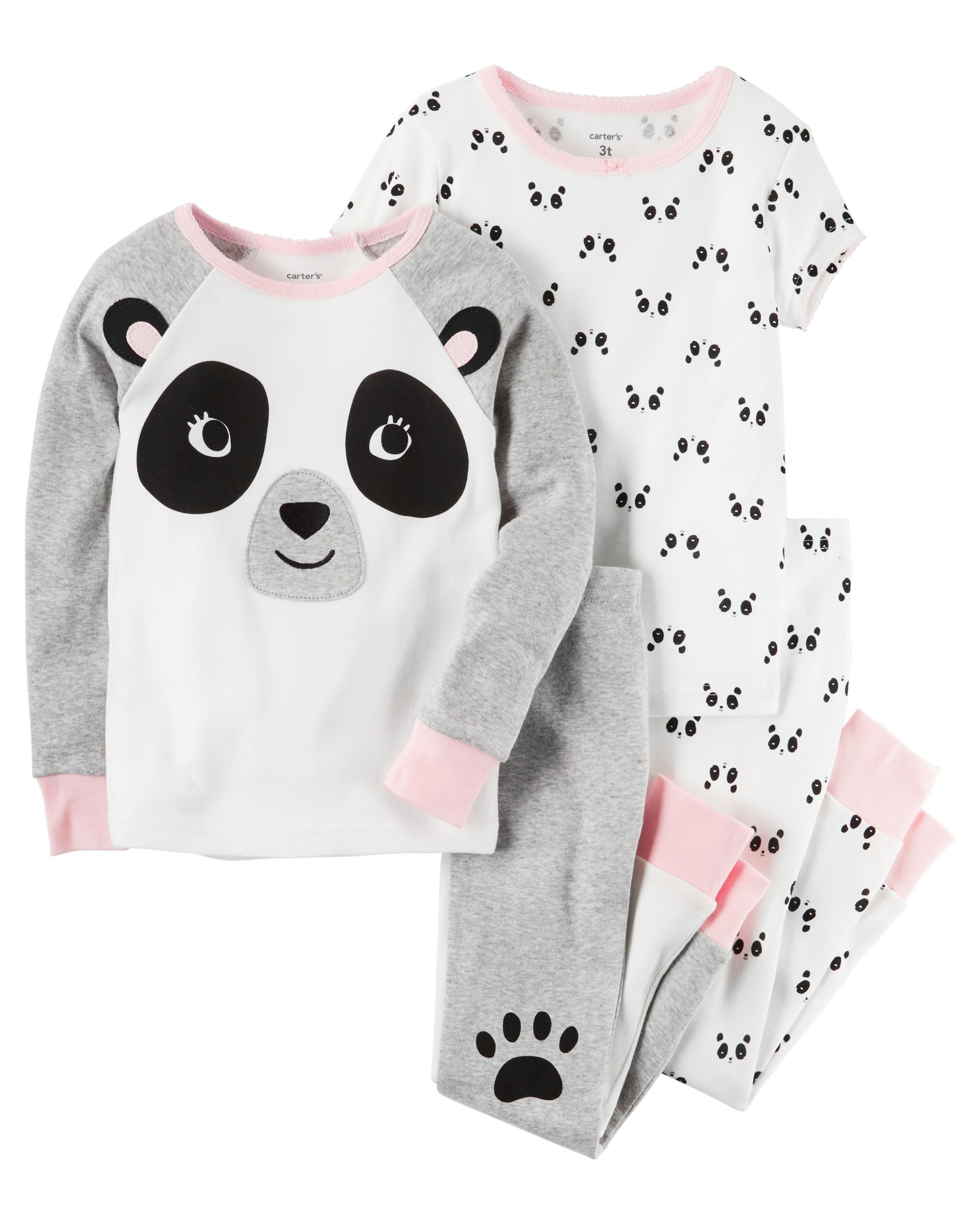 f8db03ff33c7 Baby Girl 4-Piece Snug Fit Cotton PJs from Carters.com. Shop ...