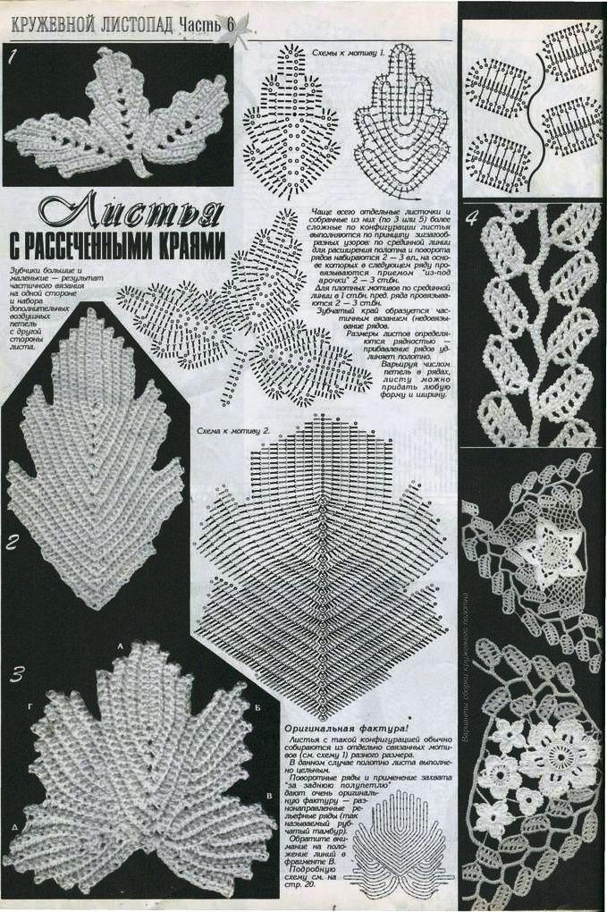 patrones-de-hojas-a-crochet-para-imprimir6. | Flores de crochet ...