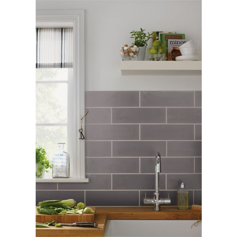 Islington Wall Tile Matt Ash 100 X 330mm Pack Of 15 Kitchen Wall Tiles Modern Wall Tiles Kitchen Wall Tiles