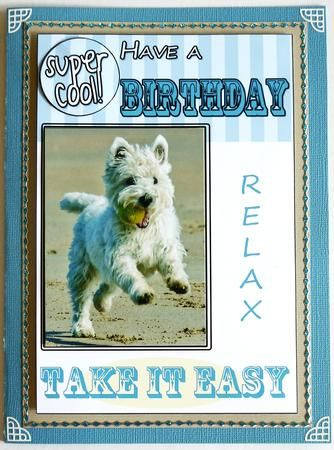 Card Gallery West Highland Terrier Birthday Card Hand Crafted