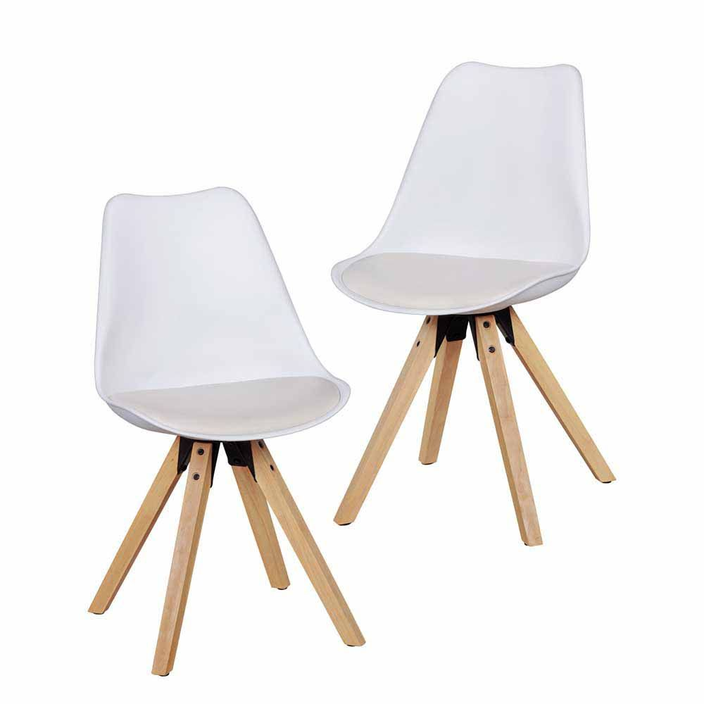 Stuhl Set mit Schalensitz Weiß (2er Set) Jetzt bestellen unter ...