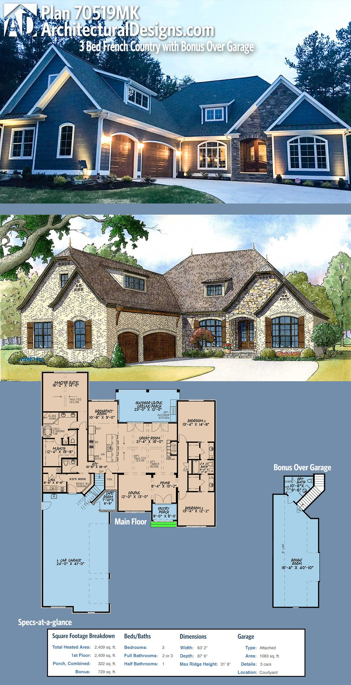 Architectural Designs House Plan 70519MK gives you