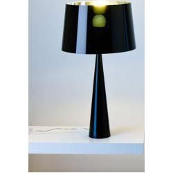 Photo of Lámpara de mesa Totem negro, aluminio de diseño, aluminio de 58.5 cm