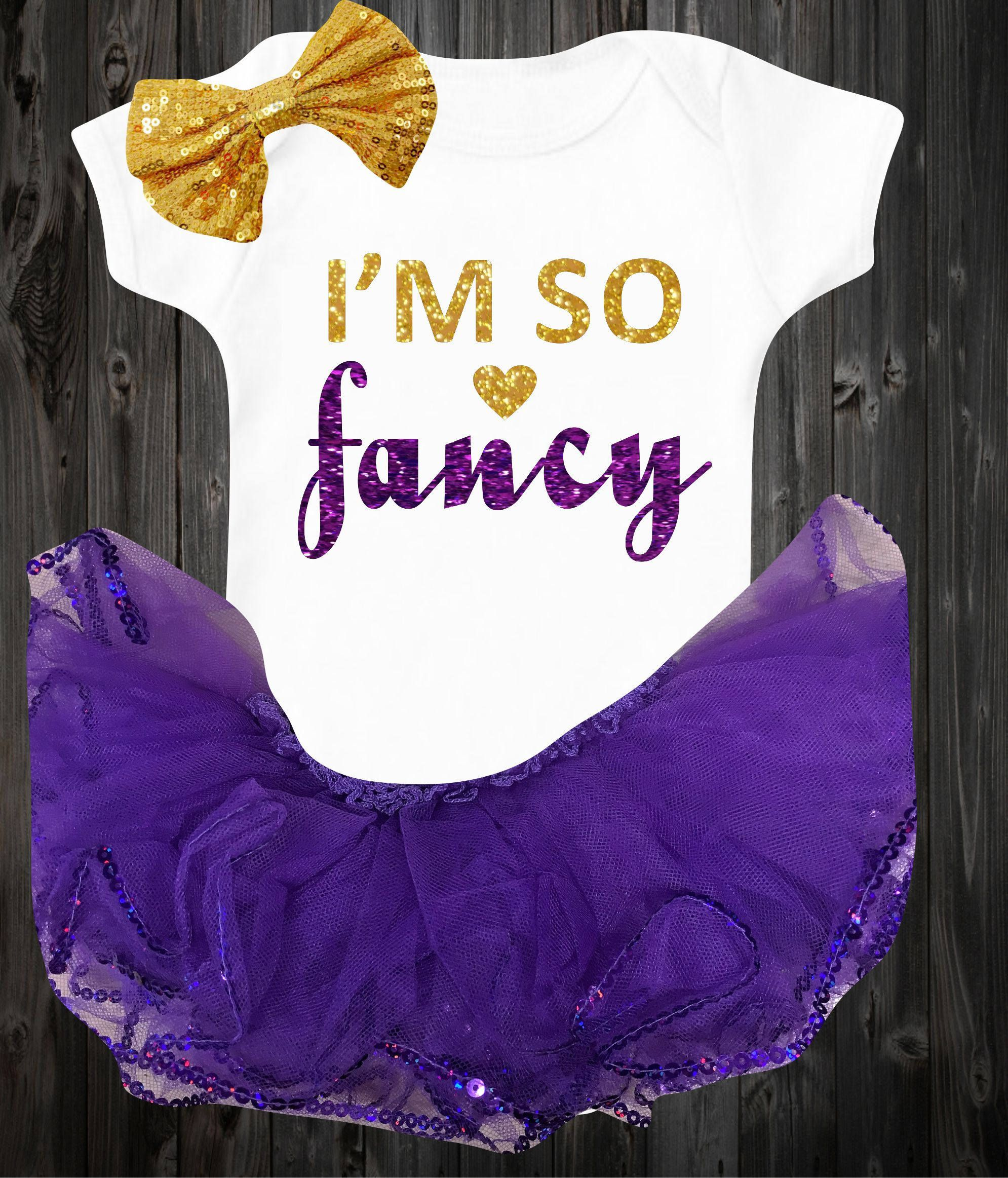 This is a super cute baby girl bodysuit I m so fancy baby onesie
