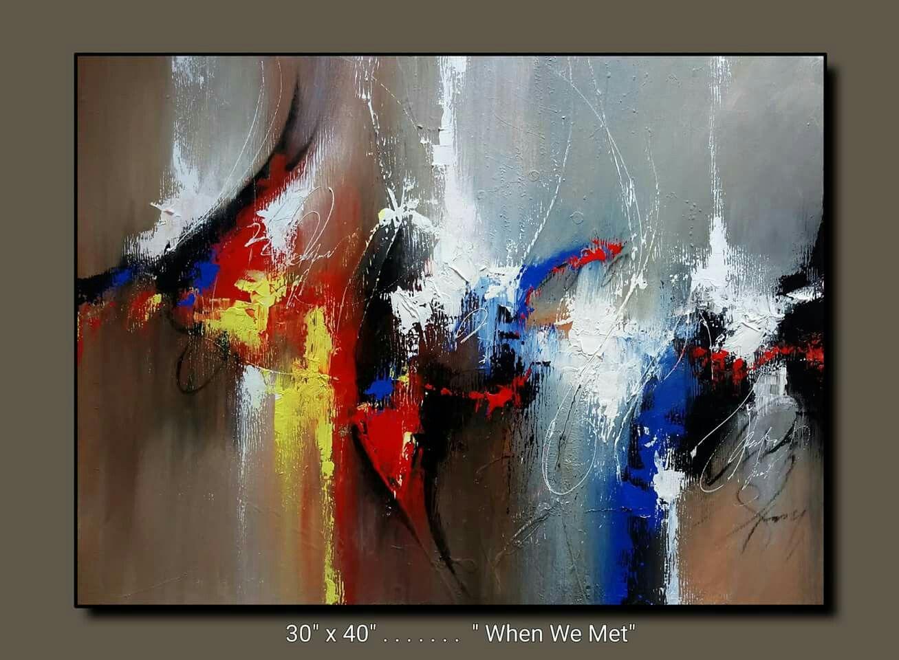 Pingl par marianne lehman sur suraj fine arts pinterest fonds d 39 cran abstraits tableau - Tuto peinture abstraite contemporaine ...