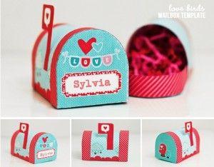 Cute valentine mail box printables