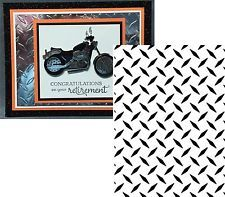 Embossing Folder DIAMOND PLATE PATTERN 1218-101 DARICE All Occasion Father's Day