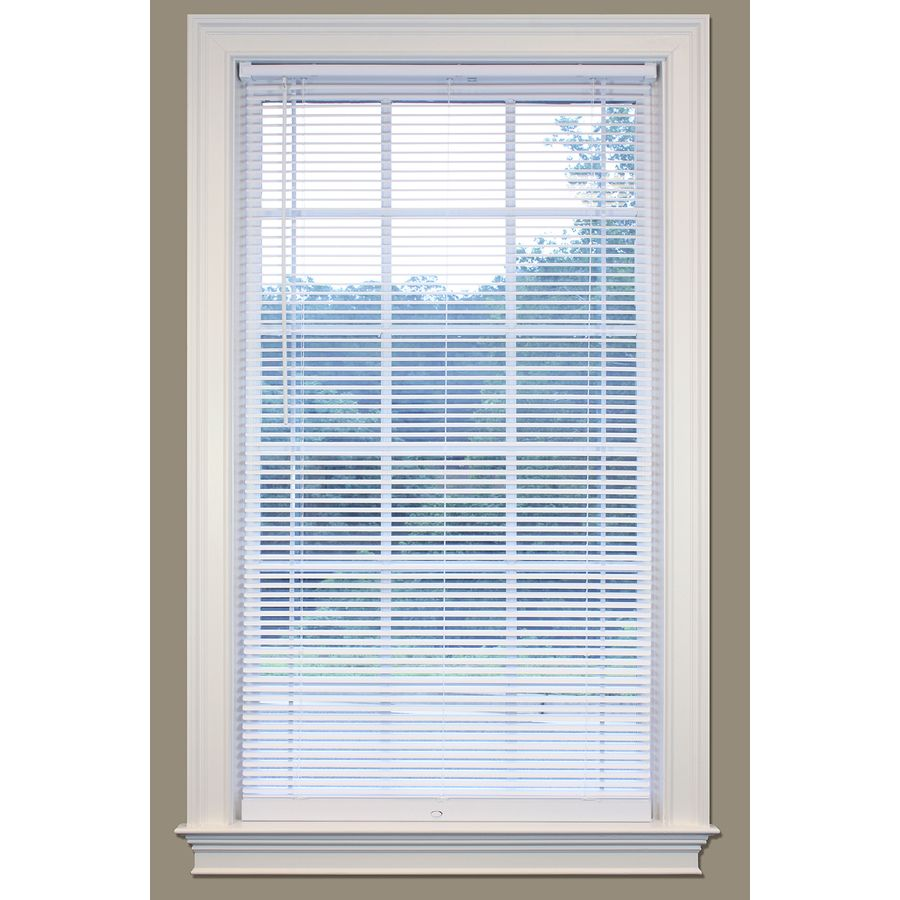 Safetrac Lift Lock 1 In Cordless White Vinyl Room Darkening Mini Blinds Common 27 In Actual 26 5 In X 64 In Lowes Com In 2020 Vinyl Mini Blinds Vinyl Blinds Blinds