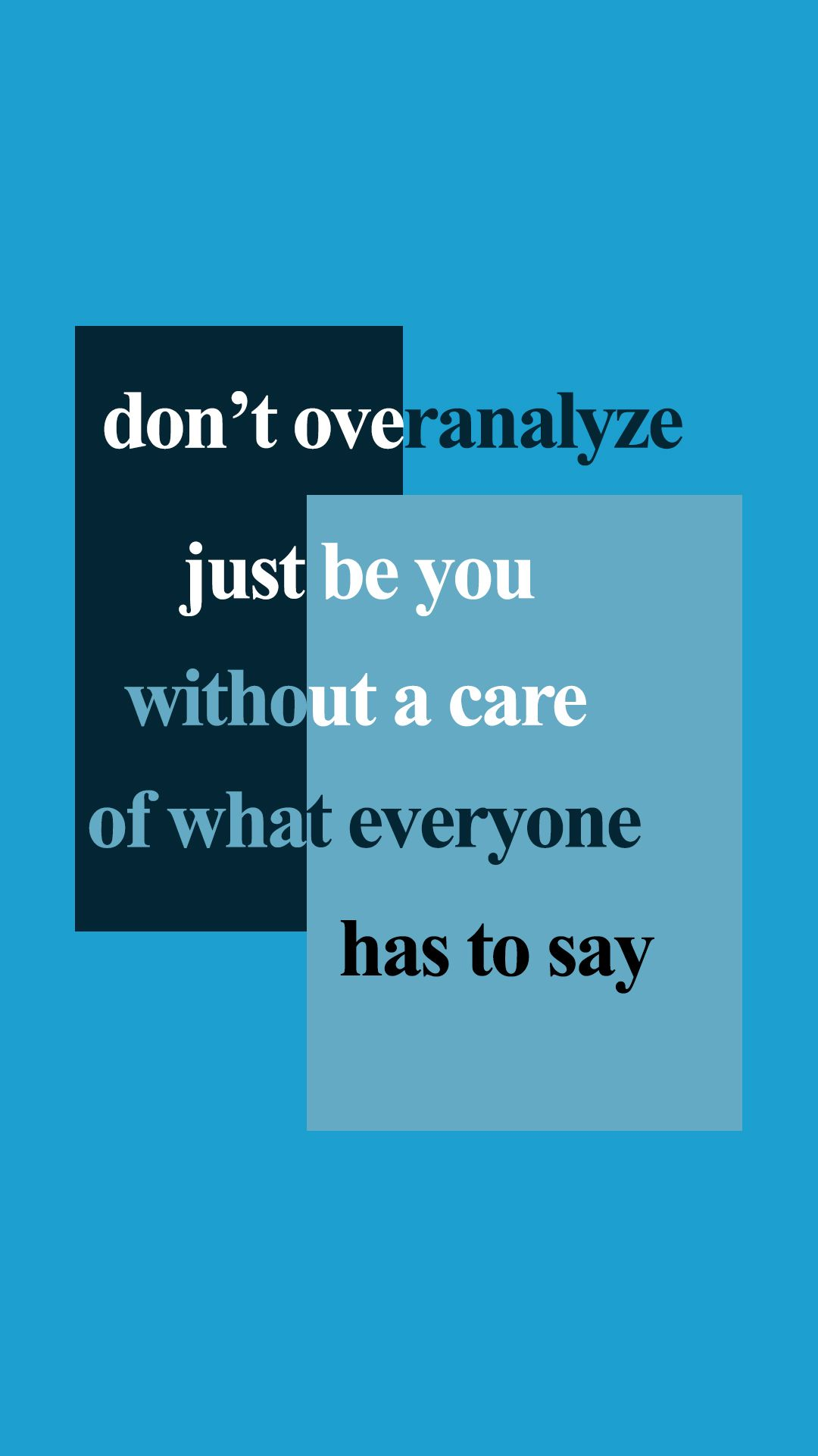 Positive Aesthetic Quotes Wallpaper Blue