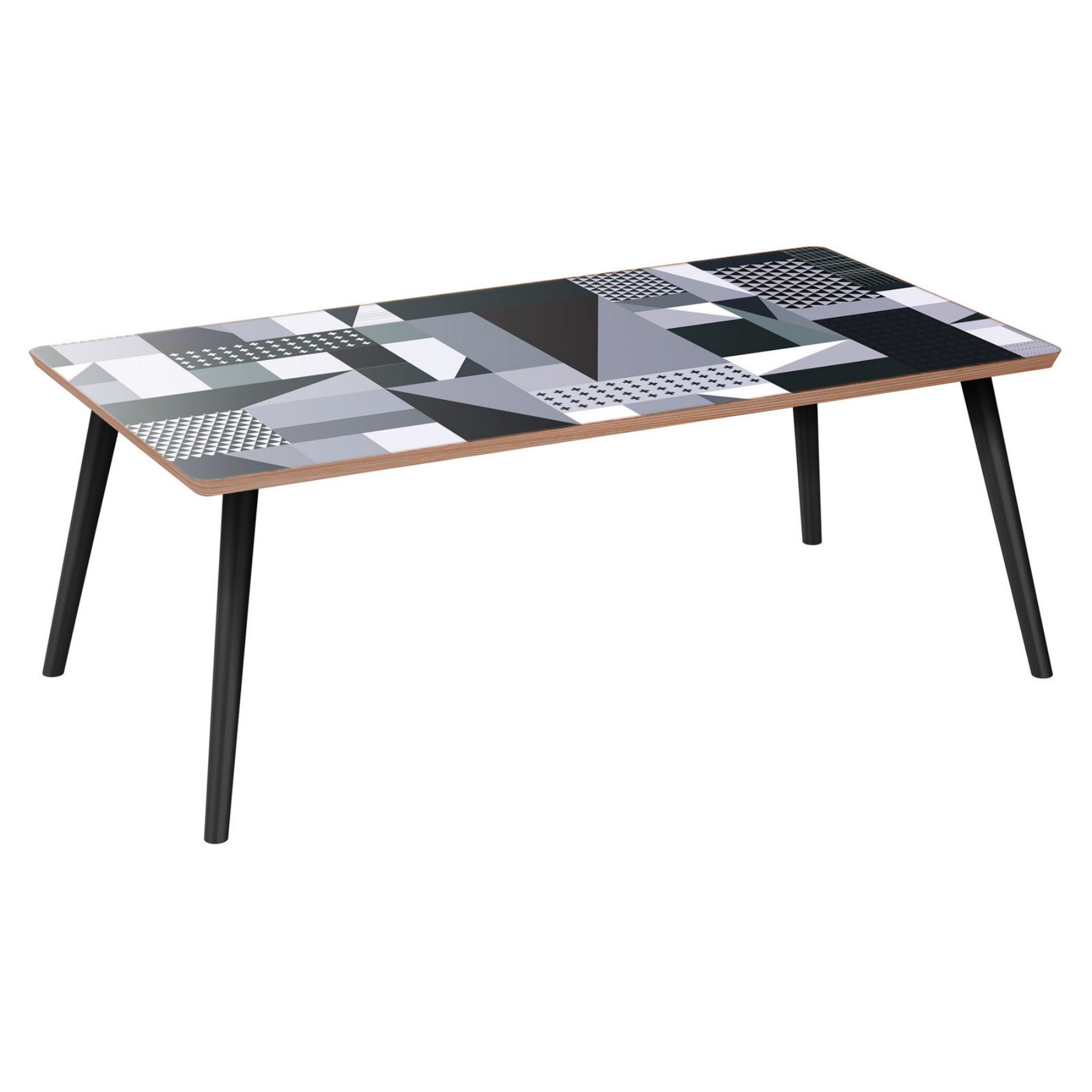 Nyekoncept Brixton Flare Grayscale Patchwork Coffee Table  12034102