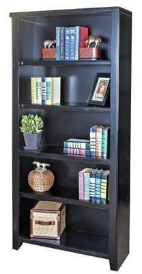Winston Porter Armina Standard Bookcase Winston Porter Martin Furniture Black Bookcase Dark Wood Bookcase