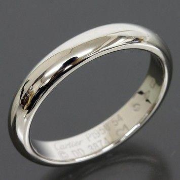 Cartier Classic Wedding Platinum Pt950 3 5mm Band Ring Us6 5 Eu52