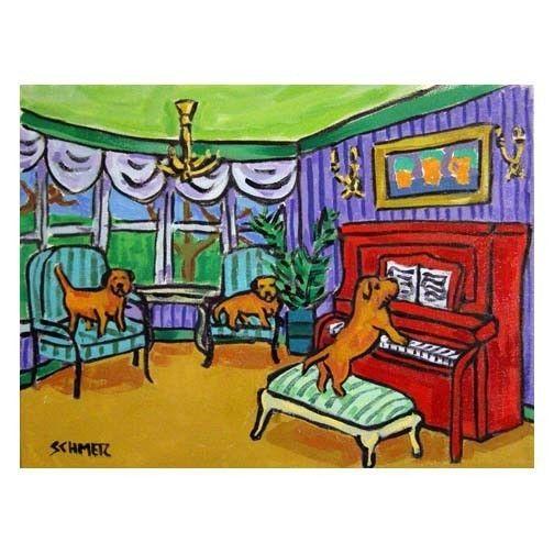Border Terrier Piano Concert Dog Art Print 8x10 by SCHMETZPETZ, $12.49