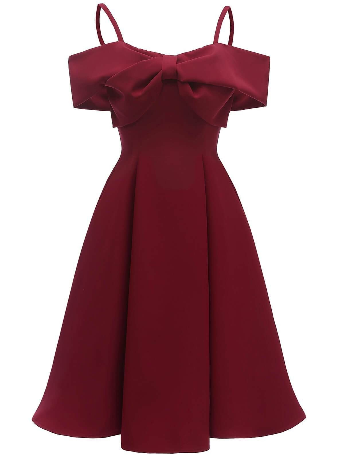 Cold Shoulder Wedding Guest Dress In 2020 Retro Bridesmaid Dresses A Line Prom Dresses Elegant Midi Dresses