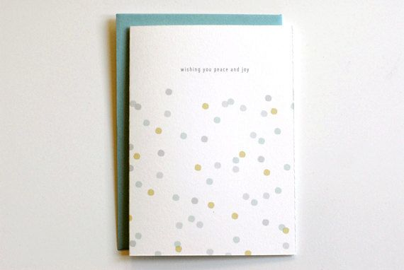 confetti holiday cards