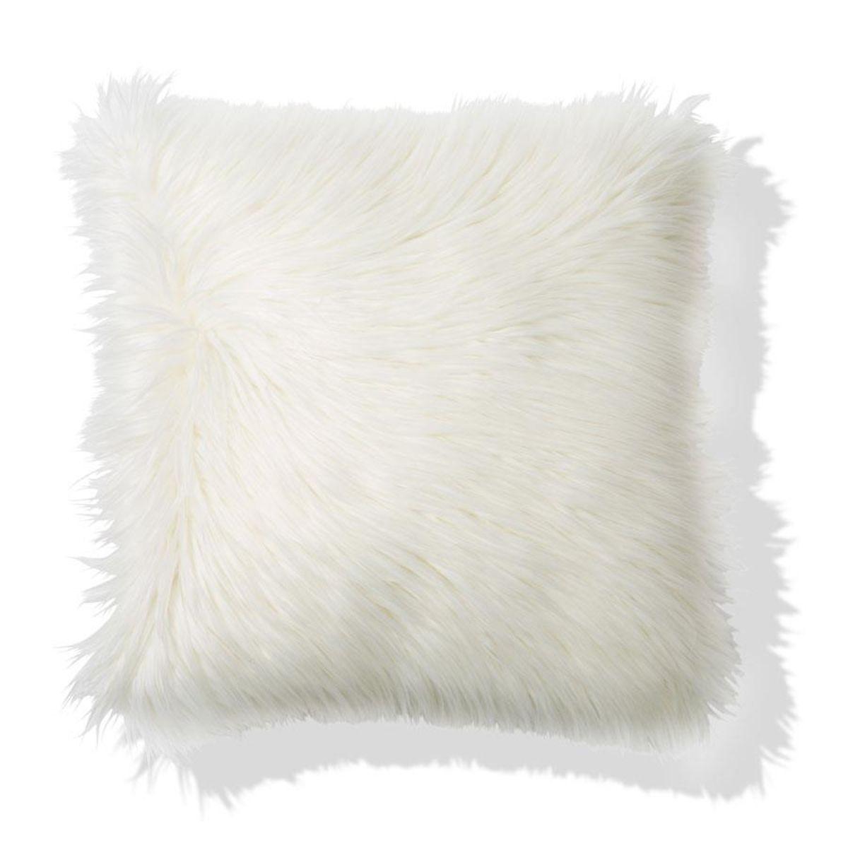 Zsa Zsa Faux Fur Cushion Home Co White Fluffy Cushions Fluffy Cushions Fur Cushion