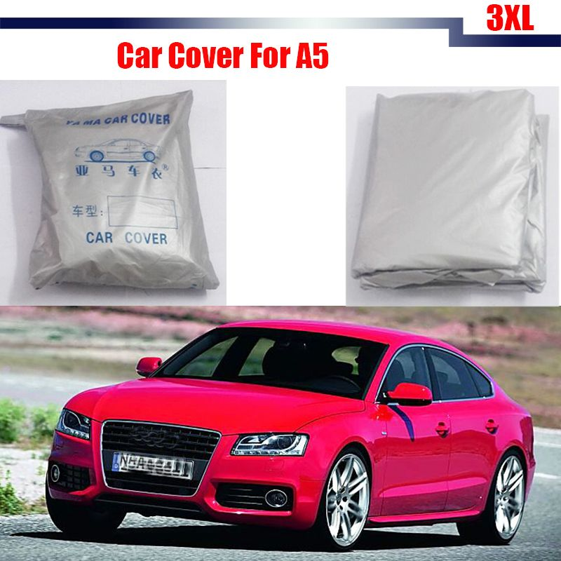 Cawanerl Full Car Cover Snow Rain Sun Resistant Cover Sun Shade - Audi a5 car cover