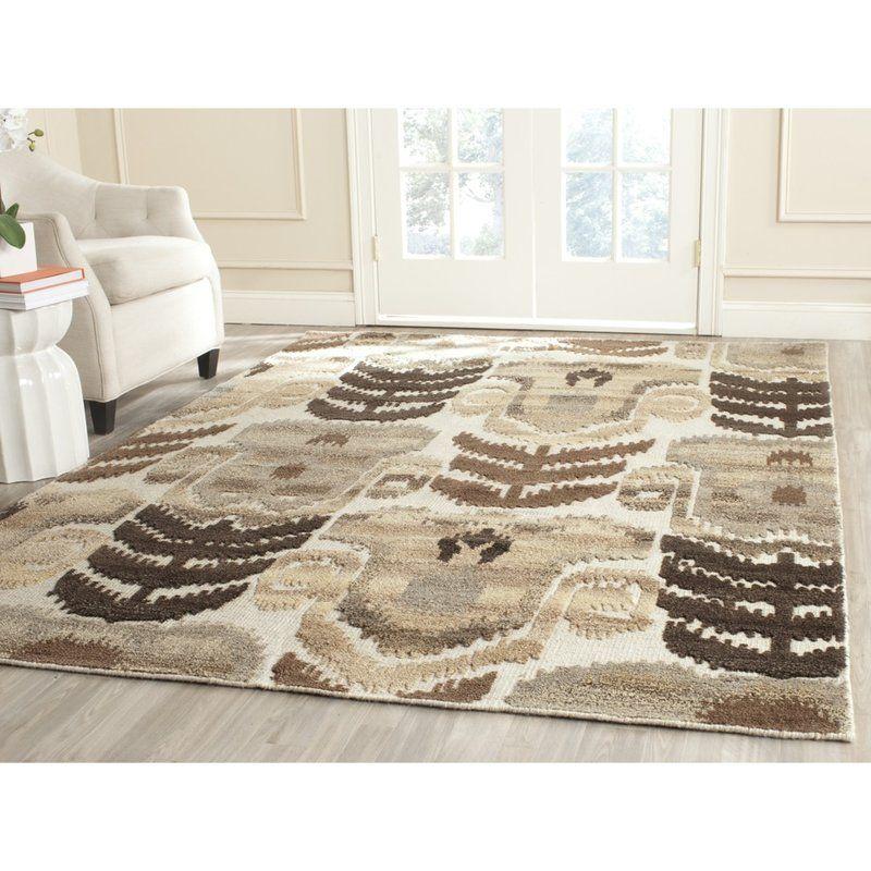 Gretta Handwoven Flatweave Wool Cotton Brown Tan Area Rug Natural Wool Rugs Area Rugs Rugs