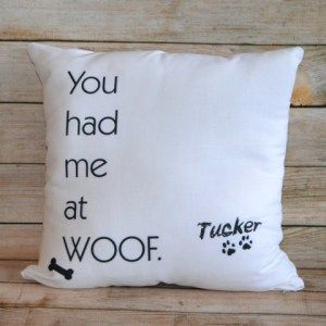 Monogram Personalized Dog Pillow - Perfect for anyone who loves their pet!