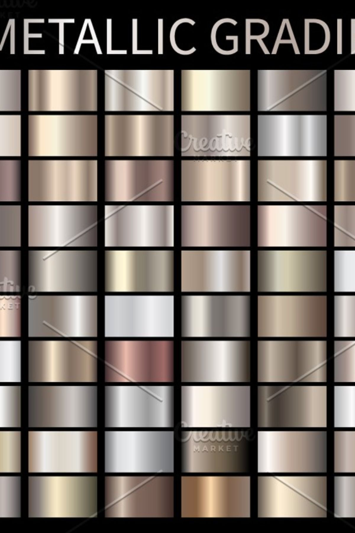 Metallic Bronze gradients swatches for Adobe and