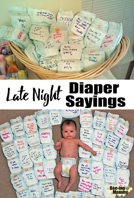 Photo of Late Night Diaper Sayings for your next Baby Shower
