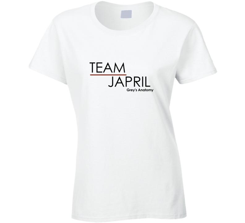Grey\'s Anatomy Jackson Avery April Kepner Team Japril T-Shirt ...