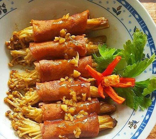 Resep Jamur Enoki Gulung Smoke Beef Saus Teriyaki Resep Jamur Resep Masakan Indonesia Resep Makanan
