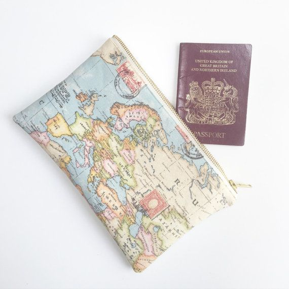 World map pouch travel pouch teacher gift europe by elizaelizauk world map pouch travel pouch teacher gift europe by elizaelizauk gumiabroncs Images