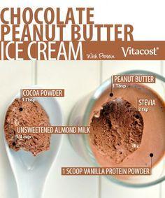 Chocolate-Peanut Butter Protein Ice Cream - VitaVibes Blog | Vitacost.com